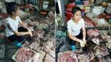 Người bán phá giá thịt lợn bị ném chất bẩn ở Hải Phòng: Cấm bán?