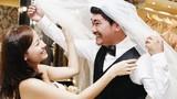 Khánh Hiền đi thử váy cưới cùng hôn phu Việt kiều