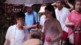 Phạm Băng Băng diện áo mỏng tang trên phim trường