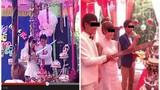 """Đám cưới Việt dùng dao phay, kiếm... """"chặt"""" bánh gây sốt"""