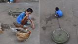 Chuyện lạ hôm nay: Xót xa cậu bé bị nuôi như nuôi gà