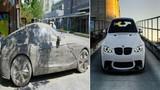 Tự khắc ô tô đá, choáng khi siêu xe bằng đá hóa thành xe thật