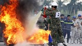 Mục kích hàng nghìn chiến sĩ PCCC cứu hỏa ở Mỹ Đình