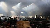Ảnh hiện trường tan hoang sau cháy lớn ở KCN Ngọc Hồi