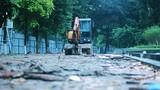 Ngán ngẩm cảnh đào xới nham nhở ở công viên Lê Nin, Hà Nội