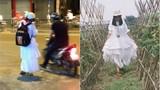 Sự thật về cô gái mặc váy trắng như ma ra đường