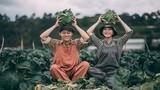 Đôi trẻ hóa thành nông dân trồng rau trong bộ ảnh cưới
