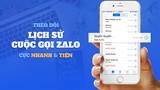 Zalo cho phép gọi từ danh bạ, không cần mở ứng dụng