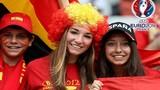 Vẻ đẹp của nữ CĐV Tây Ban Nha trên khán đài Euro 2016