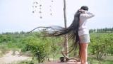 Thiếu nữ cao 1m61 và câu chuyện về mái tóc dài 2m
