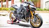 """Môtô Kawasaki Z1000 """"hàng khủng"""" độ nửa tỷ tại Việt Nam"""