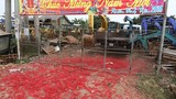Chùm ảnh: Xác pháo trải đỏ khu dân cư ở Vĩnh Phúc
