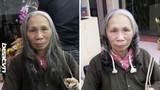 Thực hư cụ bà bán rong làm tóc xoăn thay đổi diện mạo
