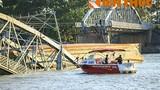 Hai cẩu khủng khắc phục sự cố sập cầu Ghềnh đã đến sông Đồng Nai