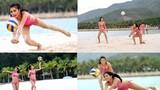 Ngắm thí sinh Hoa hậu Hoàn vũ VN diện bikini chơi bóng chuyền
