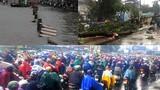 Do bão số 10, Biên Hòa-TPHCM mưa cực lớn, ngập úng khắp nơi