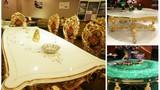 Những bộ bàn ghế dát vàng siêu chất ở Việt Nam