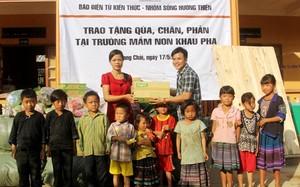 Hơn 90 triệu đồng giúp học sinh mầm non Mù Cang Chải