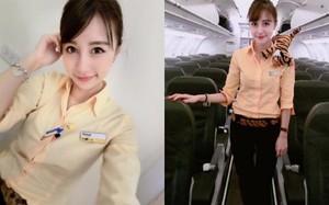 Tiếp viên hàng không xinh đẹp khiến hành khách nam ngẩn ngơ
