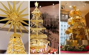 Lóa mắt những cây thông Noel bằng vàng ròng