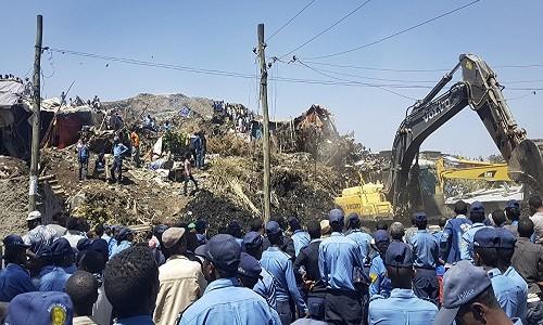 Kinh hoang sat lo bai rac o Ethiopia, gan 50 nguoi chet