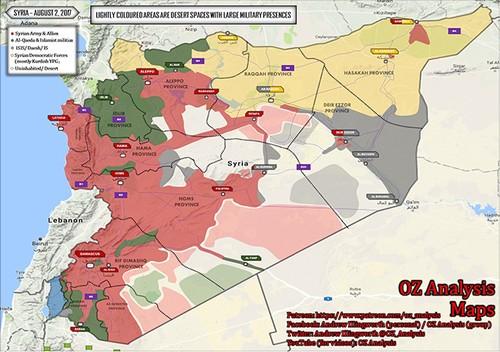 Chien su Syria dau thang 8/2017: Phien quan IS tham bai