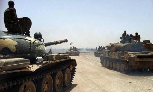 Quan doi Syria danh chiem khu vuc rong lon o mien trung Syria