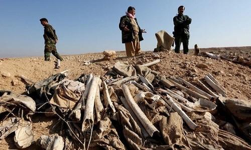 Iraq phat hien mo tap the chon 500 nan nhan cua IS gan Mosul