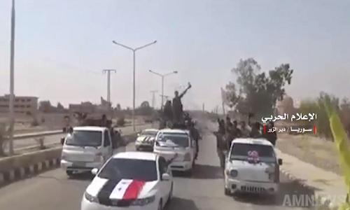 Video: Quan Syria an mung chien thang tai thanh pho Deir Ezzor