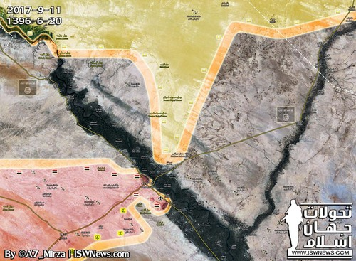 SDF tien cach thanh pho Deir Ezzor chua day 10 km