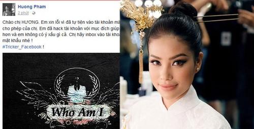Phan ung bat ngo cua Pham Huong khi bi hack facebook-Hinh-2