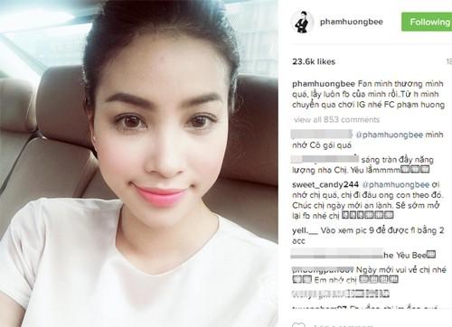 Phan ung bat ngo cua Pham Huong khi bi hack facebook