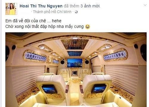 Hoa hau Thu Hoai tau sieu xe hon ca Mr Dam, Ly Nha Ky