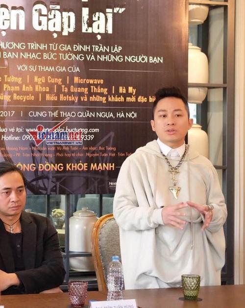 MC Anh Tuan ke ve hinh anh tren mo Tran Lap