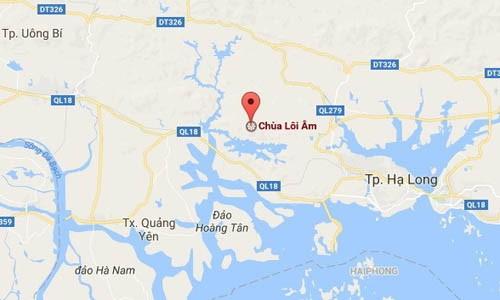 Chay lon o rung thong dac dung tai chua Loi Am, Quang Ninh