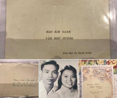 """Thiep cuoi nam 1961 cua thay Van Nhu Cuong """"gay sot"""""""