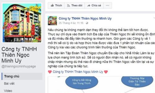 """Bien the"" moi cua Thien Ngoc Minh Uy chua duoc phep ban hang da cap"