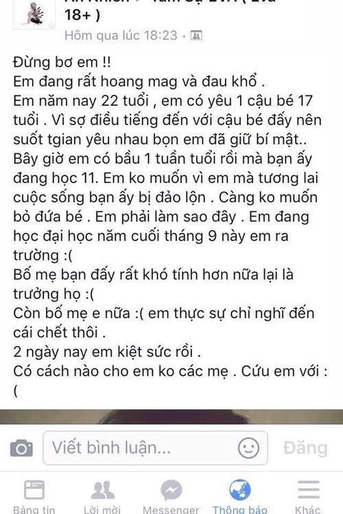 """On ao"" nu sinh co bau voi nguoi yeu kem 5 tuoi"