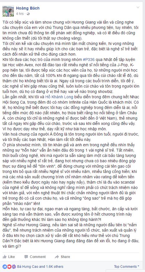 Bao dong van hoa nghe si tre qua chuyen Huong Giang Idol-Hinh-2