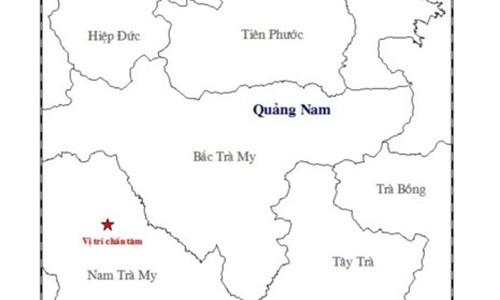 Quang Nam: Dong dat 2,7 do Richter o Nam Tra My
