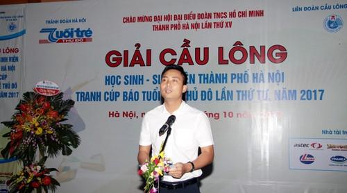 Khai mac Giai cau long HSSV tranh cup Bao Tuoi tre Thu do lan thu IV-Hinh-5