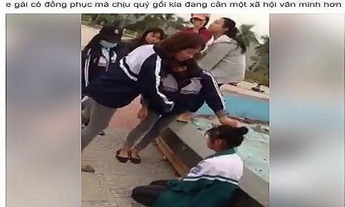 Hai Duong: Phan cam nu sinh chui boi, bat ban quy goi xin loi