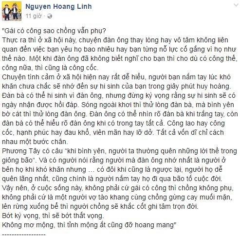Tranh cai truoc ly do ly hon cua MC 'Chung toi la chien sy'