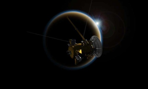 Tau Cassini tiep can chuyen cuoi cung voi mat trang Titan, sao Tho