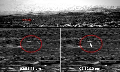 Vet lua nghi UFO xuat hien bi an tren be mat sao Hoa
