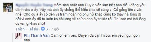 Phi Thanh Van noi gi ve vu ly hon voi Bao Duy?
