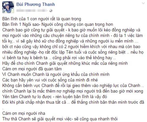 """Giua lum xum voi Mr Dam, Phuong Thanh: """"Doi khi phai chap nhan thua"""""""