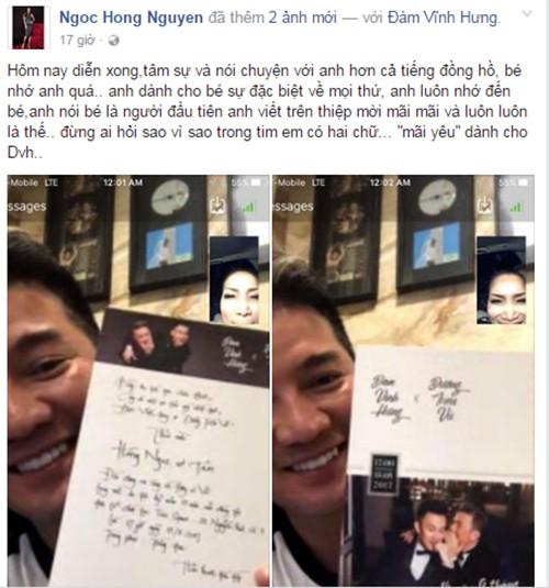 Dam Vinh Hung khoe thiep cuoi voi Duong Trieu Vu-Hinh-2