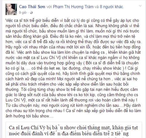 Huong Tram, Cao Thai Son benh Luu Chi Vy vu den tre bi nem ghe-Hinh-2