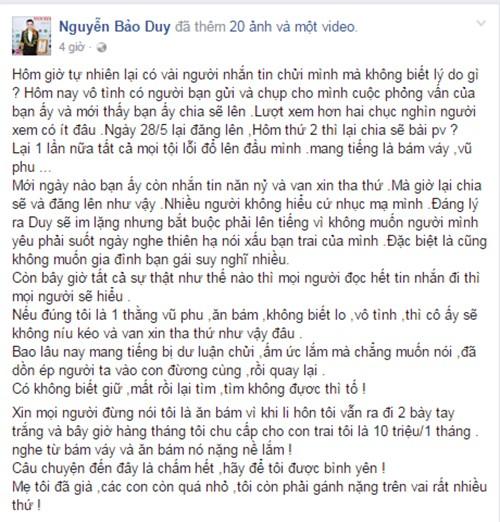 Bao Duy tung tin nhan Phi Thanh Van xin tha thu, mong quay lai-Hinh-2